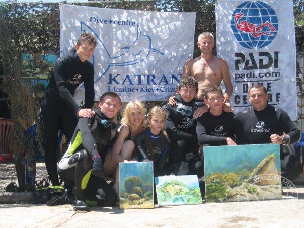 Открытие Студии подводной живописи Art Gallery Katran